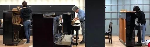 国立音楽大学の先生と学生さんがピアノの分解掃除!
